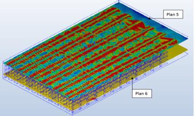 Simulación en vector velocidad (m/s) y en vector temperatura (°c)